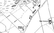 1888 Ordnance Survey map showing part of the south side of Foudland Hill - click on image to view bigger size