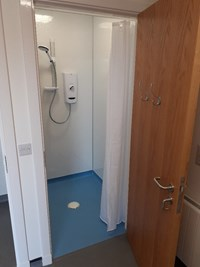 level access walk-in shower