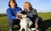 Dog Warden Alison Robertson and Marie Simpson from Mrs Murray's Rehoming Centre